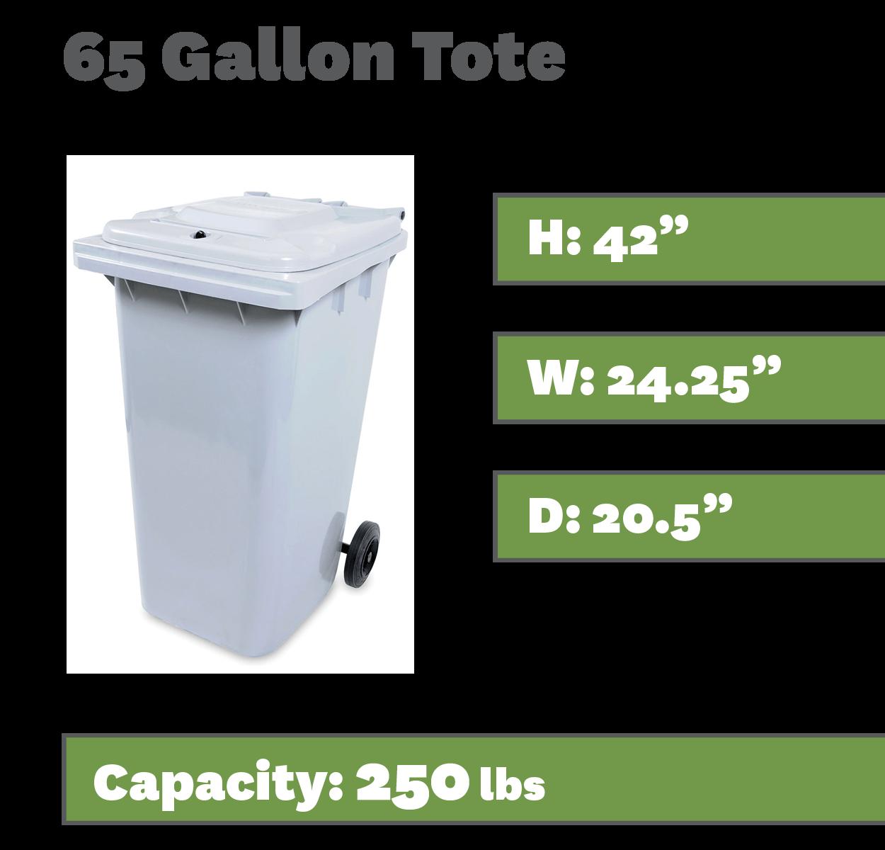 65 Gallon Tote